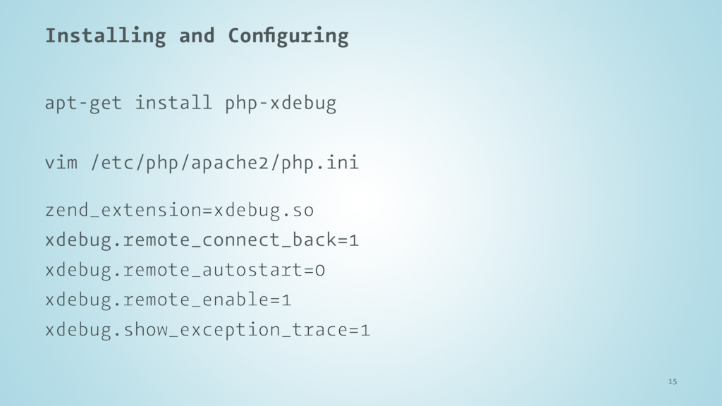 Installing and Configuring apt-get install php-x...