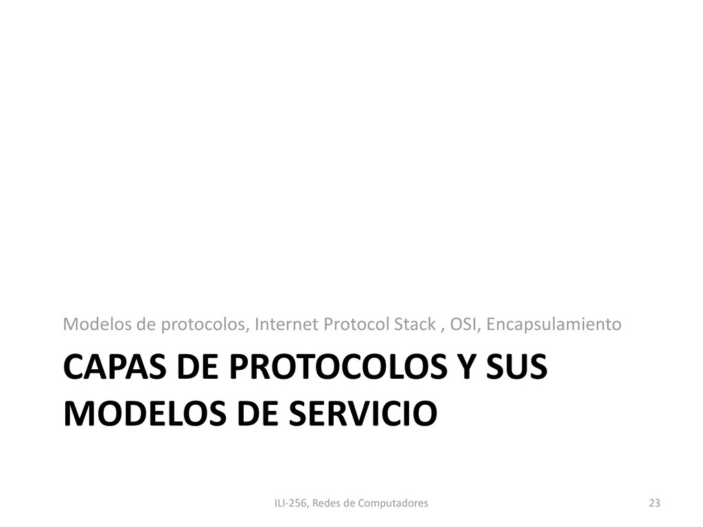 CAPAS DE PROTOCOLOS Y SUS MODELOS DE SERVICIO M...