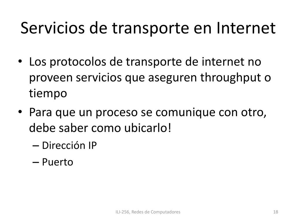 Servicios de transporte en Internet • Los proto...