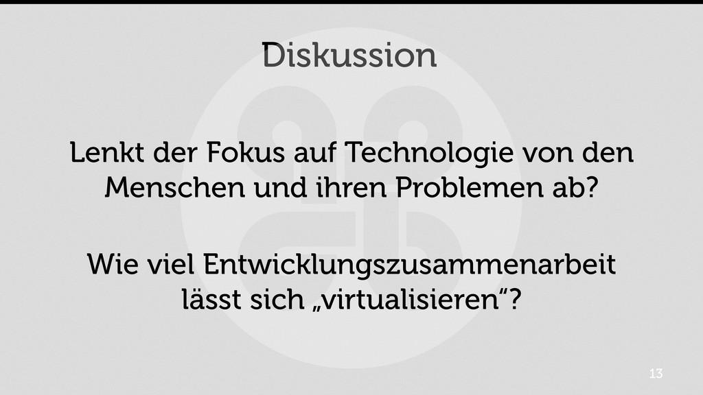 Diskussion Lenkt der Fokus auf Technologie von ...