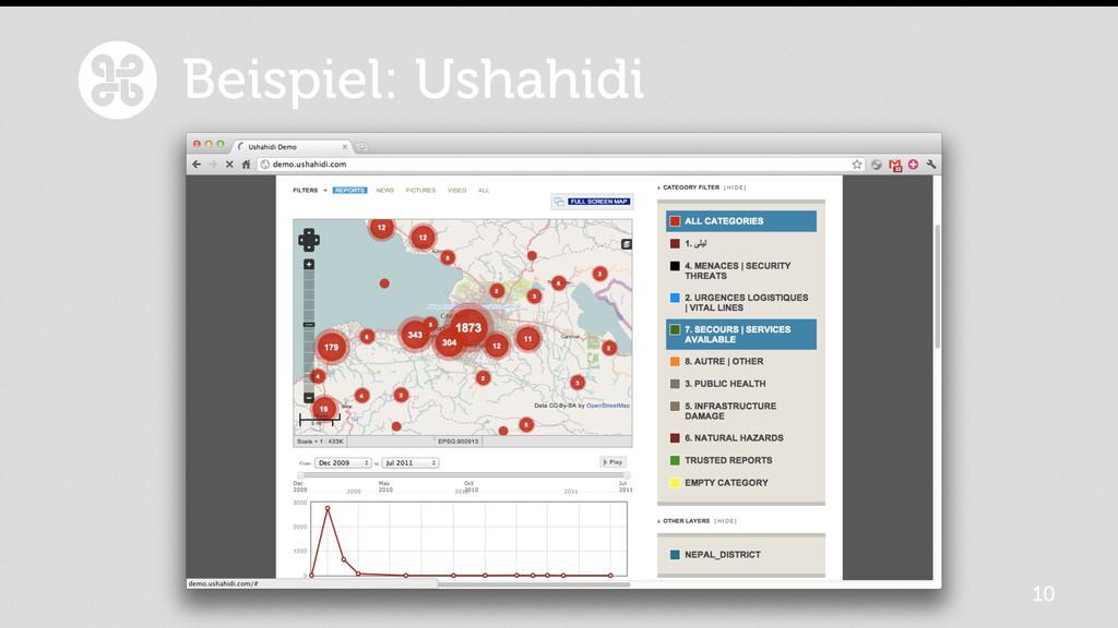 10 Beispiel: Ushahidi