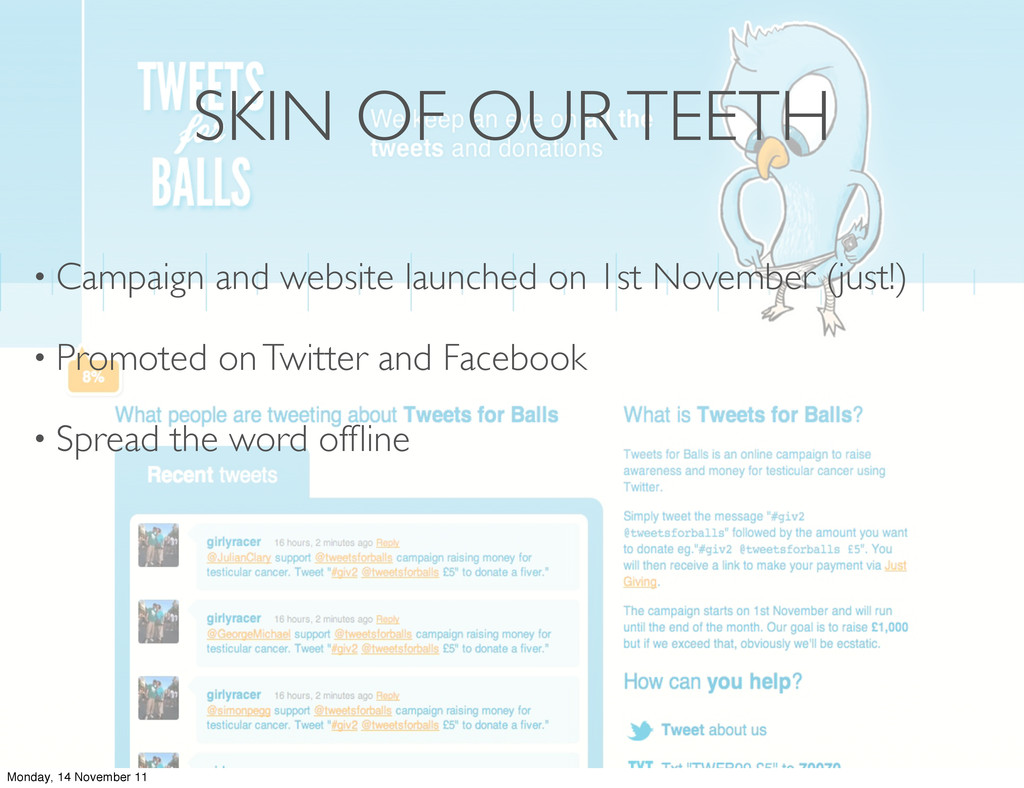 SKIN OF OUR TEETH • Campaign and website launch...