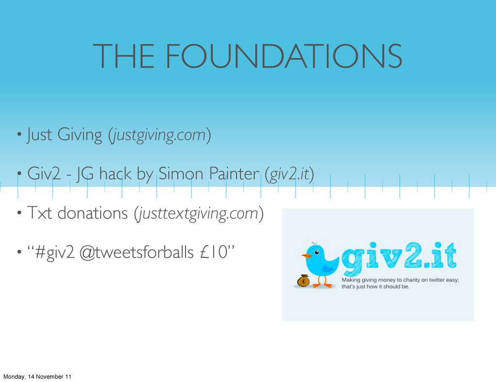 THE FOUNDATIONS • Just Giving (justgiving.com) ...