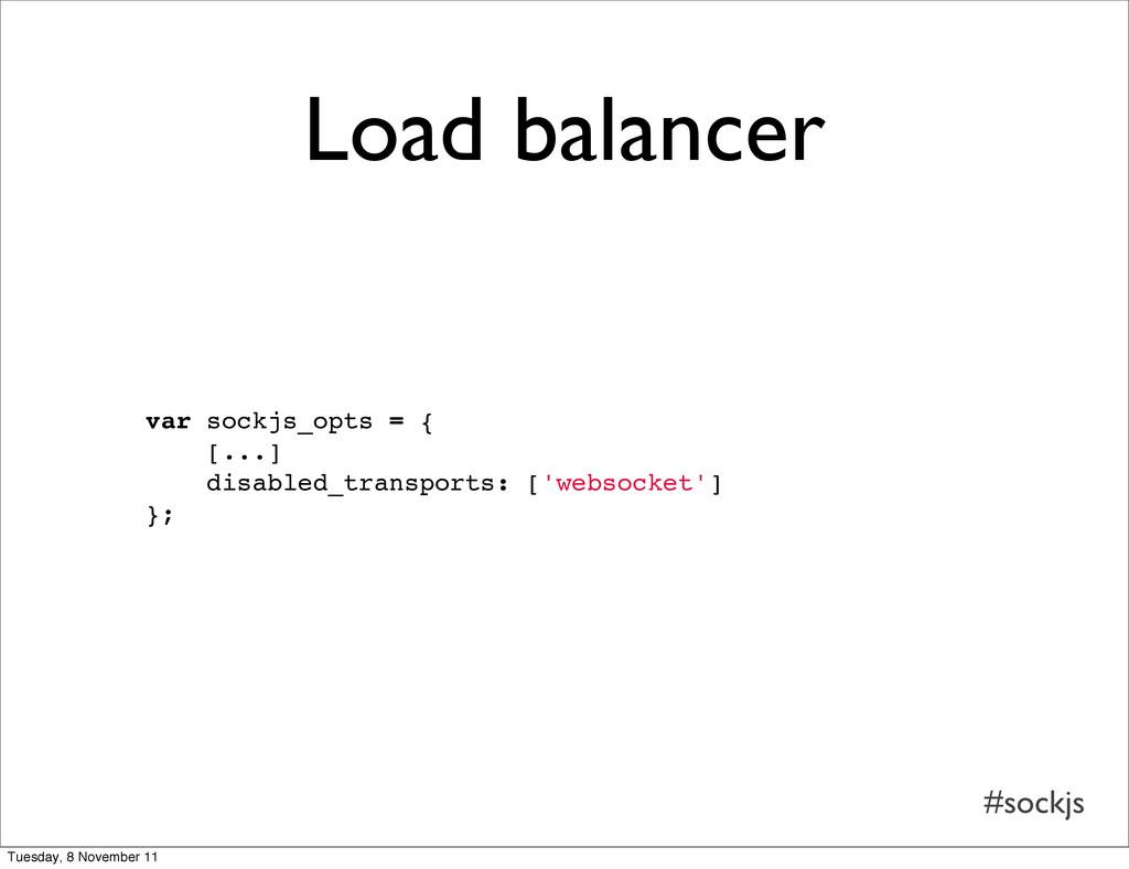 #sockjs Load balancer var sockjs_opts = { [...]...