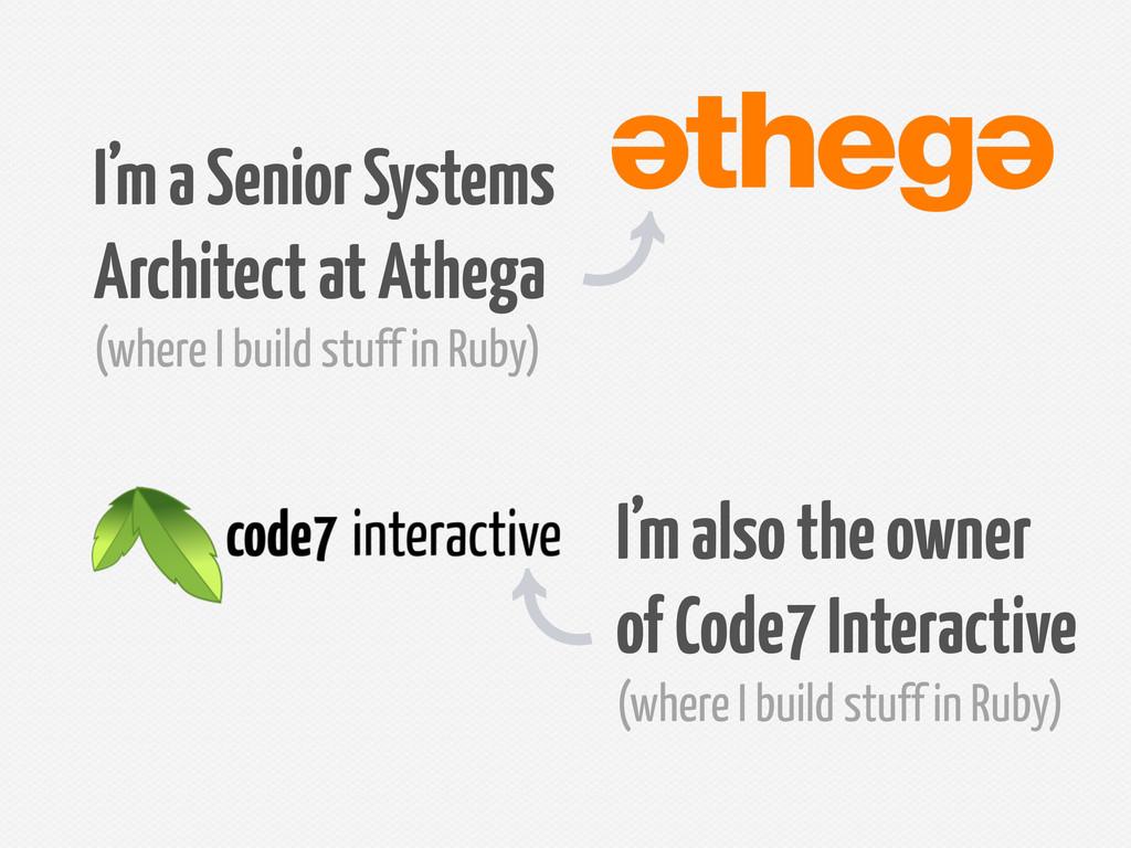 I'm a Senior Systems Architect at Athega (where...
