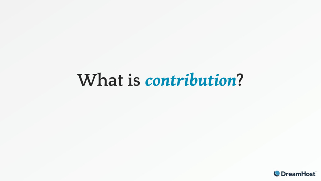 What is contribution?