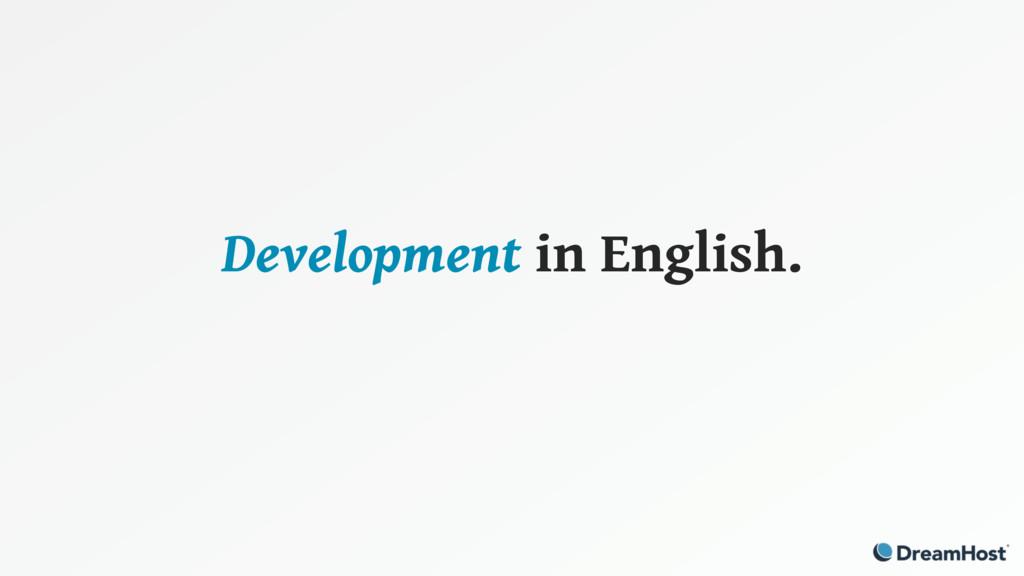 Development in English.