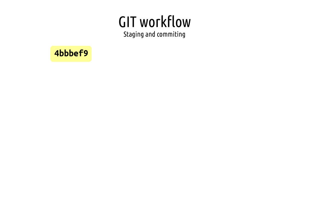 GIT workflow Staging and commiting 4bbbef9