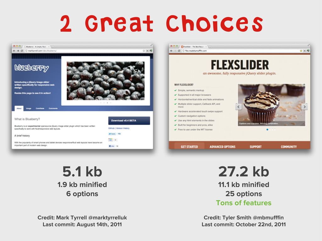 2 Great Choices 5.1 kb 1.9 kb minified 6 options...