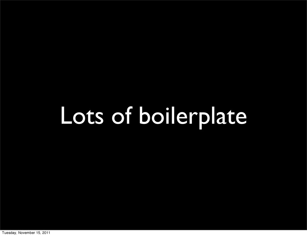 Lots of boilerplate Tuesday, November 15, 2011