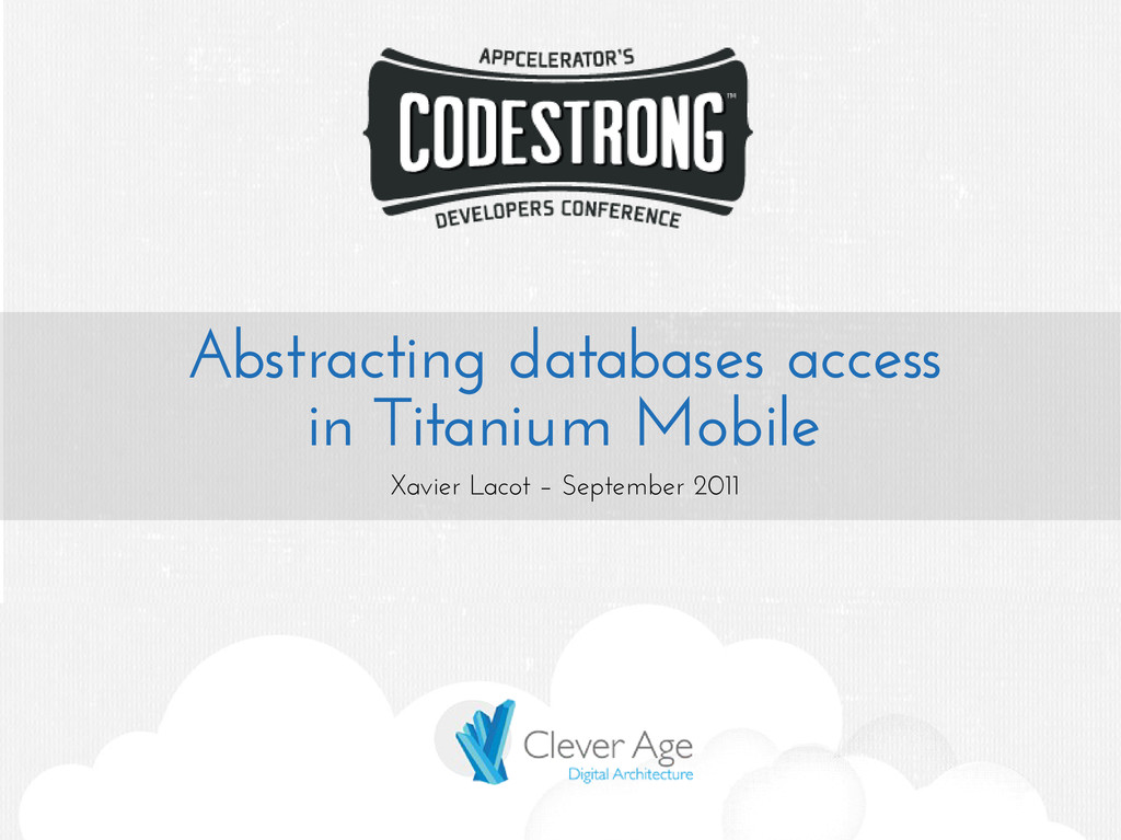 Abstracting databases access in Titanium Mobile...
