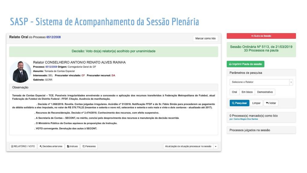 SASP - Sistema de Acompanhamento da Sessão Plen...