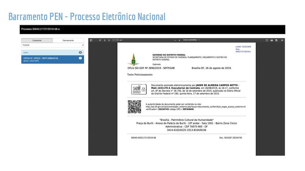 Barramento PEN - Processo Eletrônico Nacional