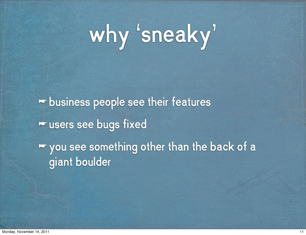why 'sneaky' ☛ business people see their featur...