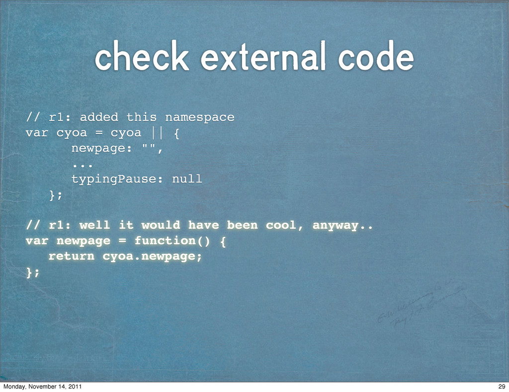 check external code // r1: added this namespace...
