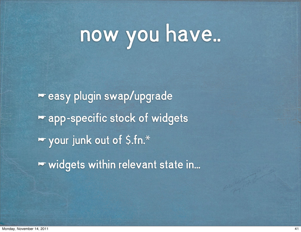now you have.. ☛ easy plugin swap/upgrade ☛ app...
