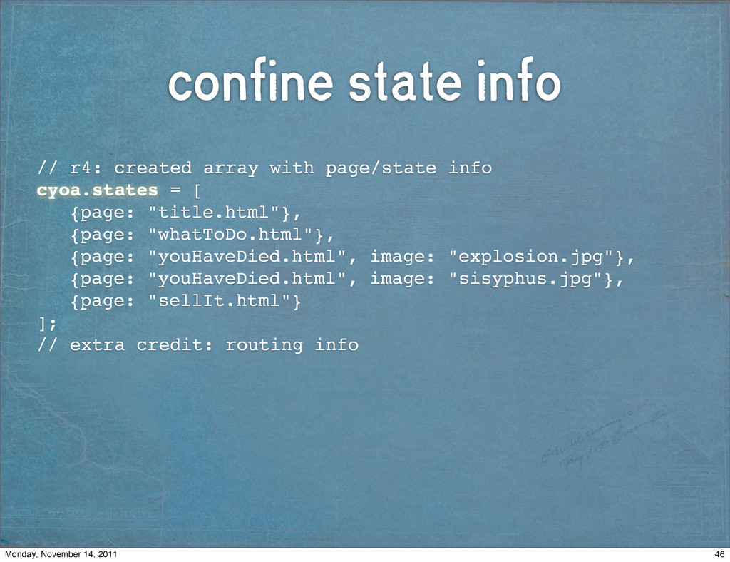 confine state info // r4: created array with pa...