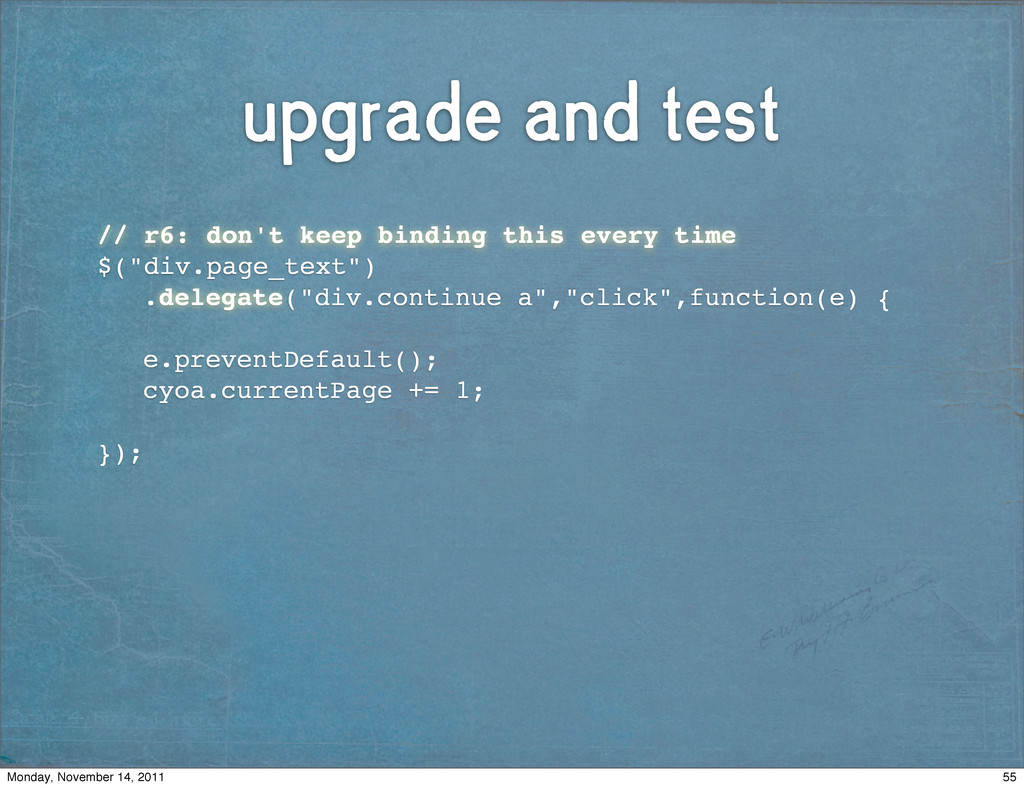 upgrade and test ! // r6: don't keep binding th...