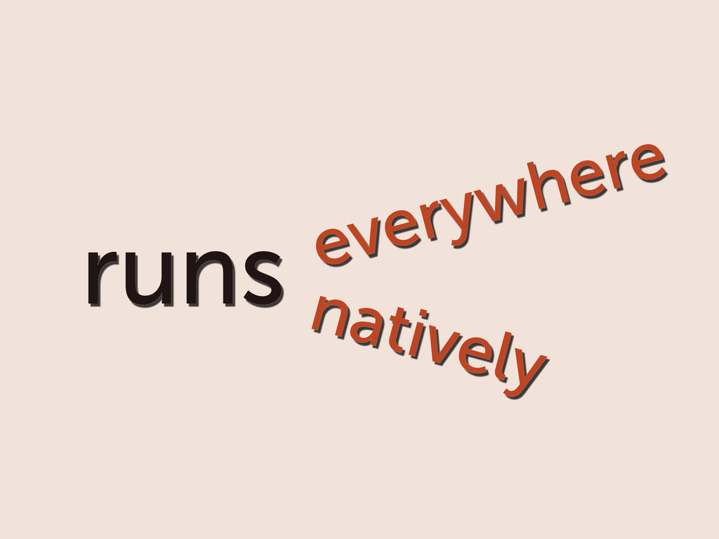 runs everywhere natively
