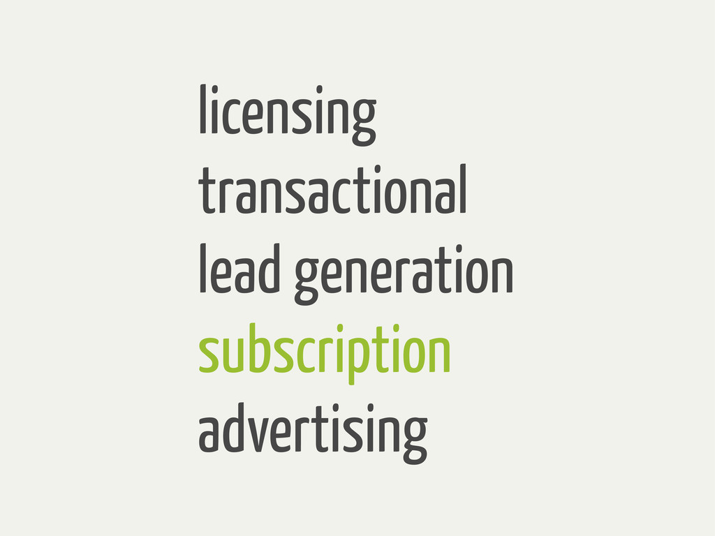 licensing transactional lead generation subscri...