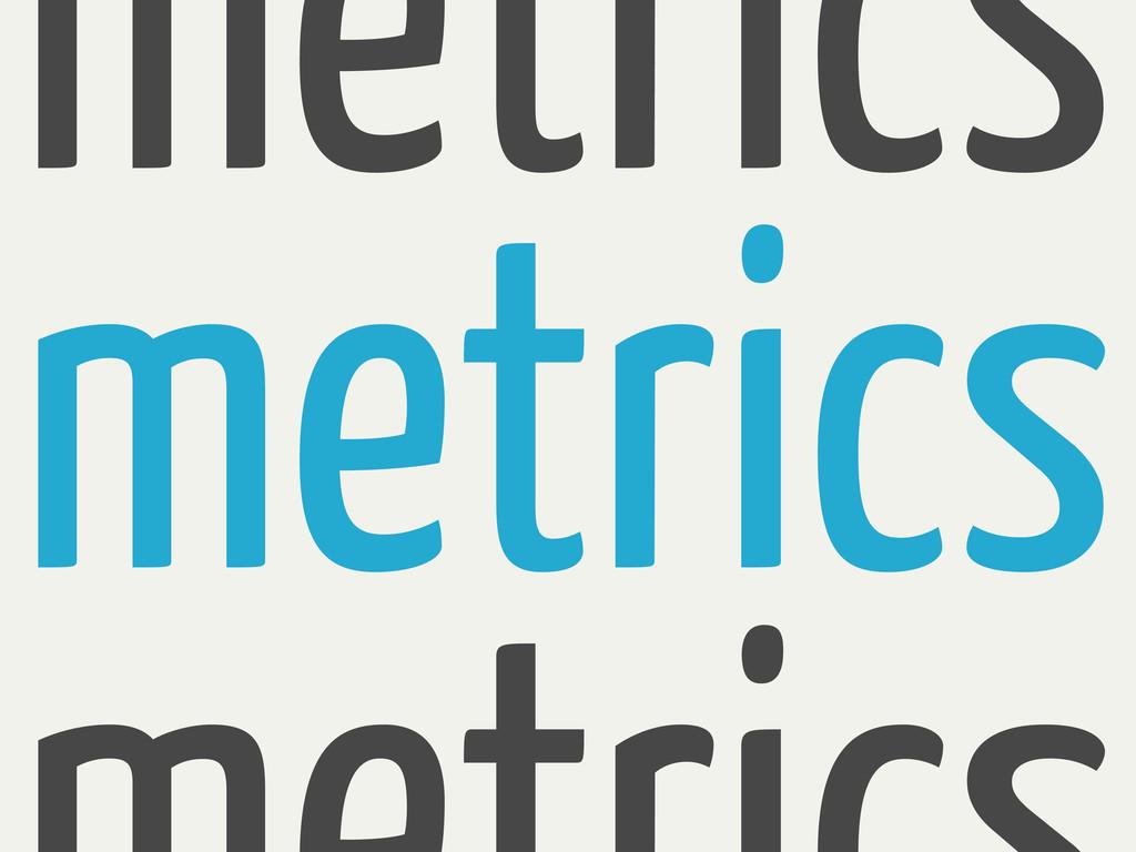metrics metrics