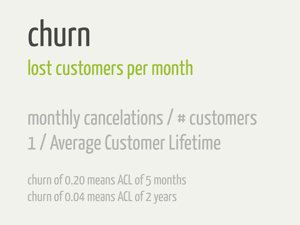 churn lost customers per month monthly cancelat...