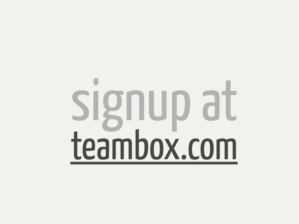 signup at teambox.com
