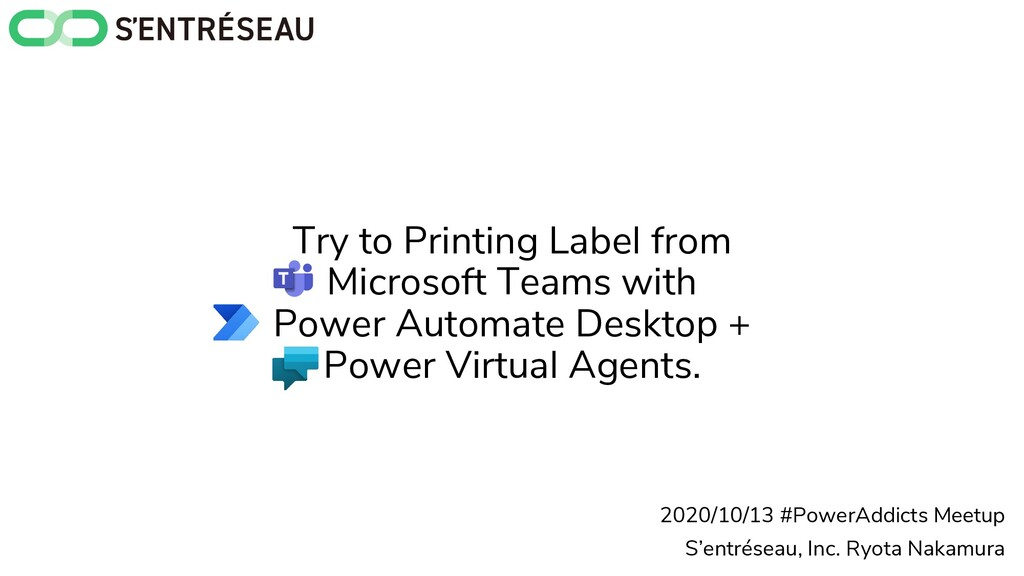 Try to Printing Label from Microsoft Teams with...