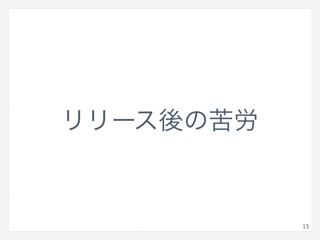 15 ϦϦʔεޙͷۤ࿑