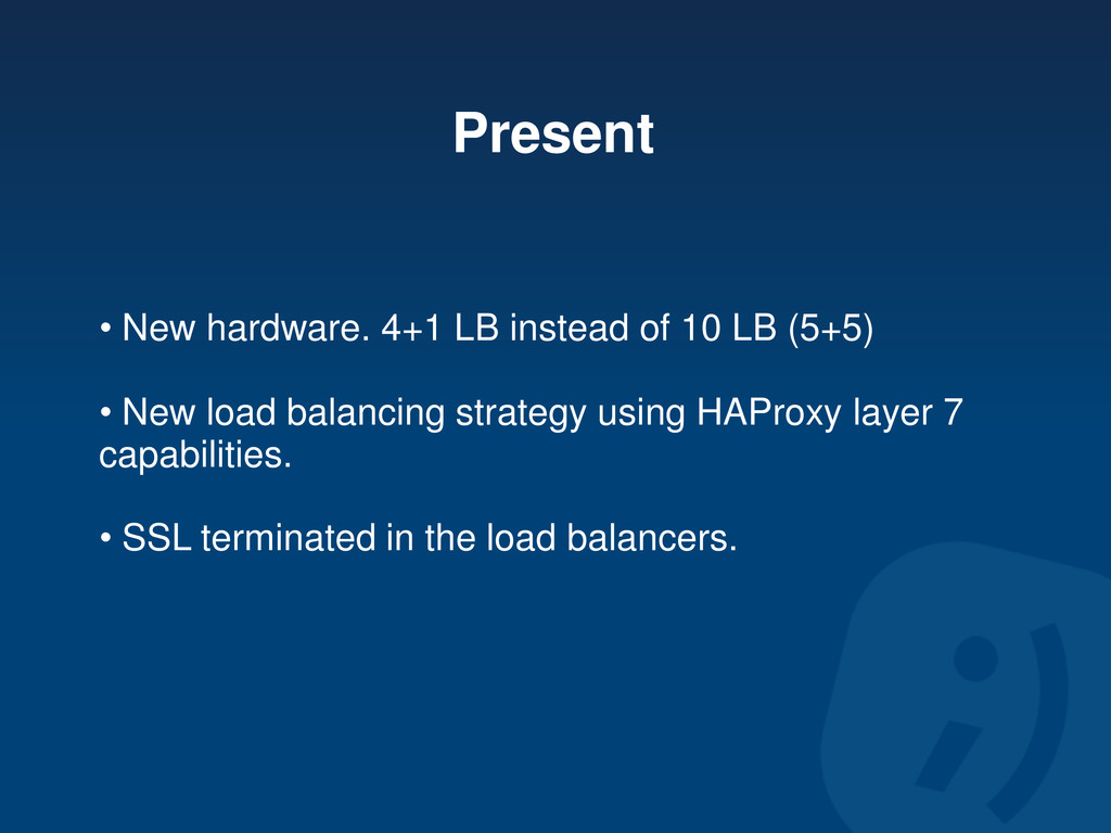 Present • New hardware. 4+1 LB instead of 10 LB...