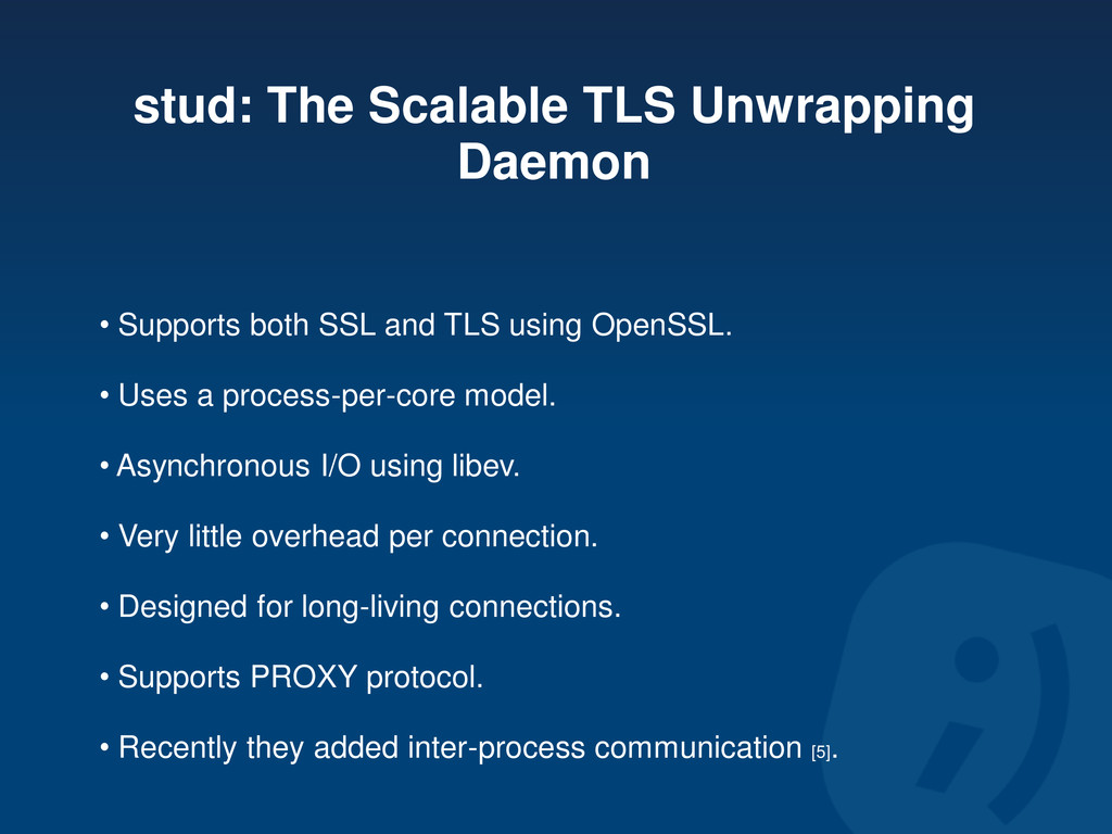 stud: The Scalable TLS Unwrapping Daemon • Supp...