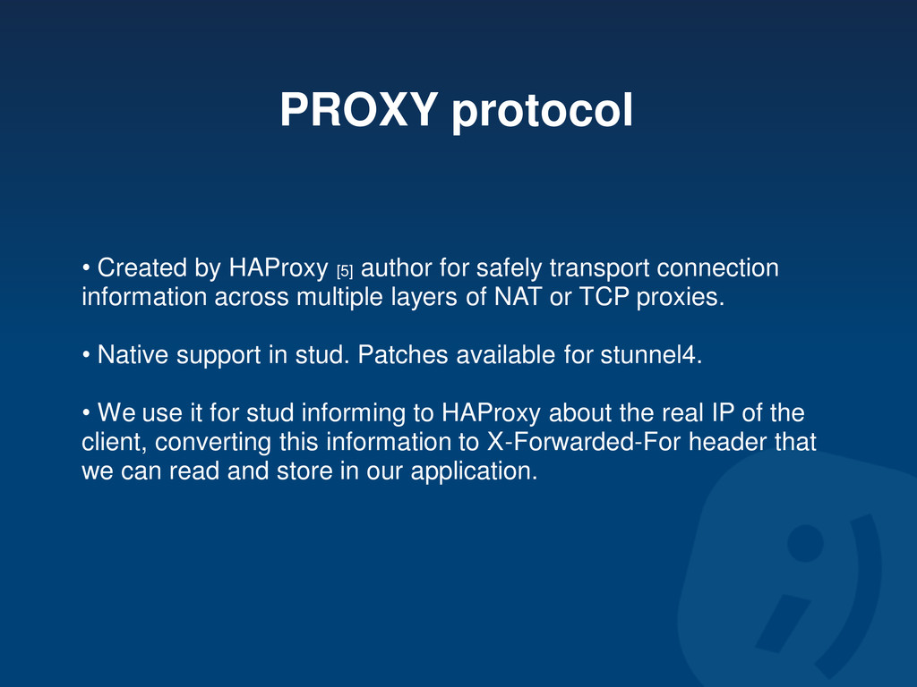PROXY protocol • Created by HAProxy [5] author ...