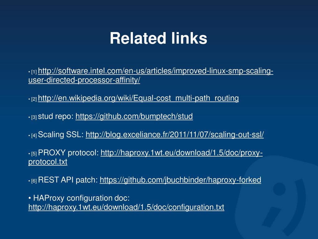 Related links • [1] http://software.intel.com/e...