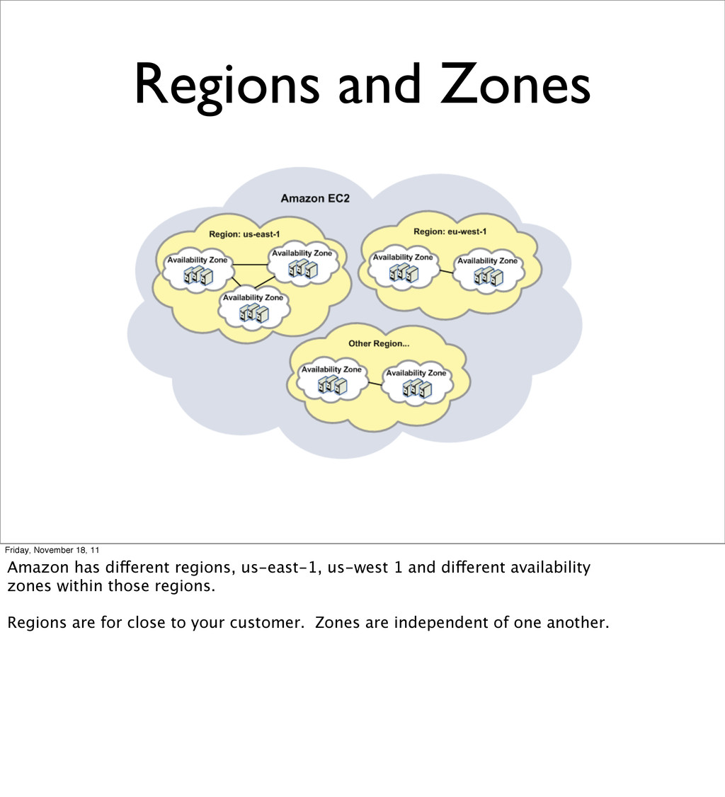 Regions and Zones Friday, November 18, 11 Amazo...