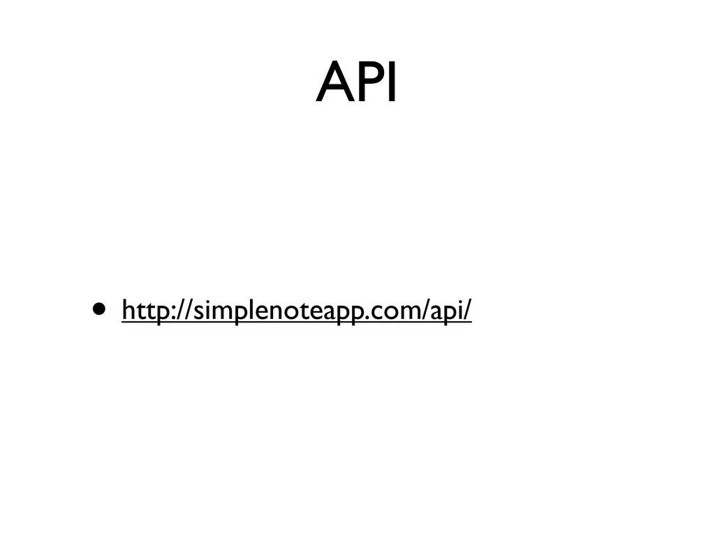 API • http://simplenoteapp.com/api/