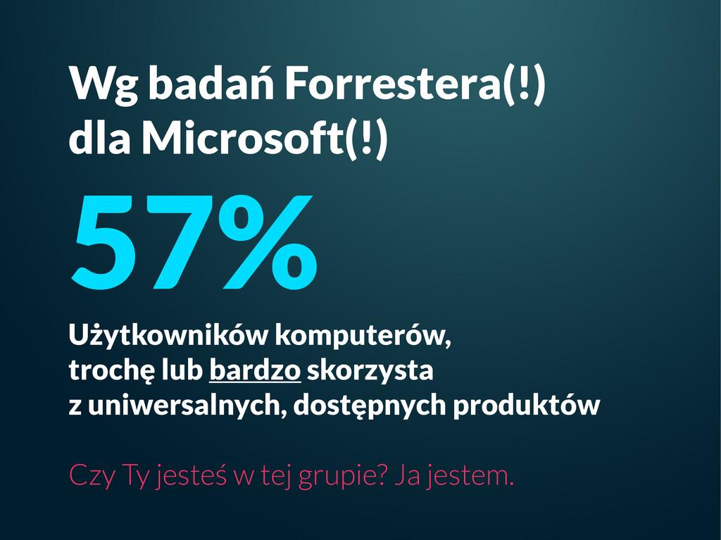 Wg badań Forrestera(!) dla Microsoft(!) 57% Uży...