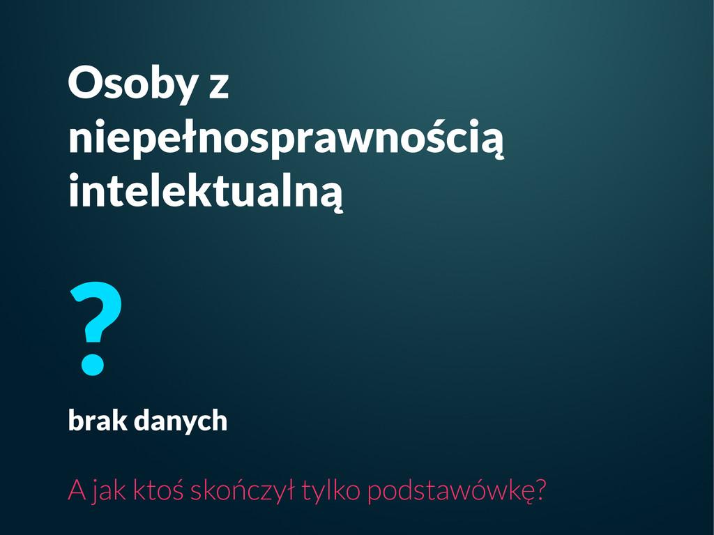 Osoby z niepełnosprawnością intelektualną ? bra...