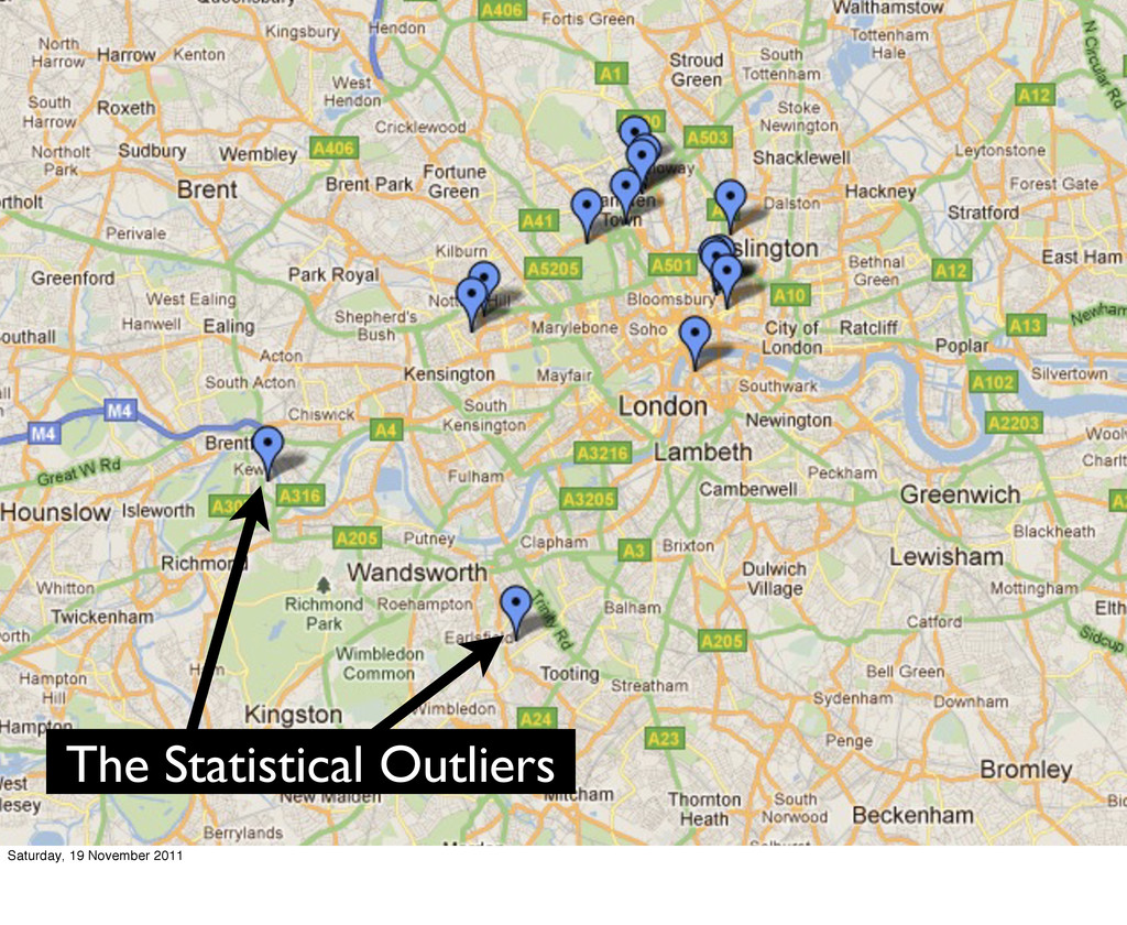 The Statistical Outliers Saturday, 19 November ...