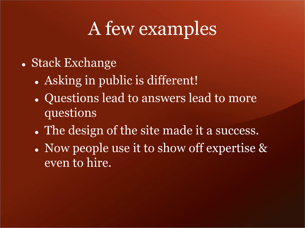 A few examples  Stack Exchange  Asking in pub...