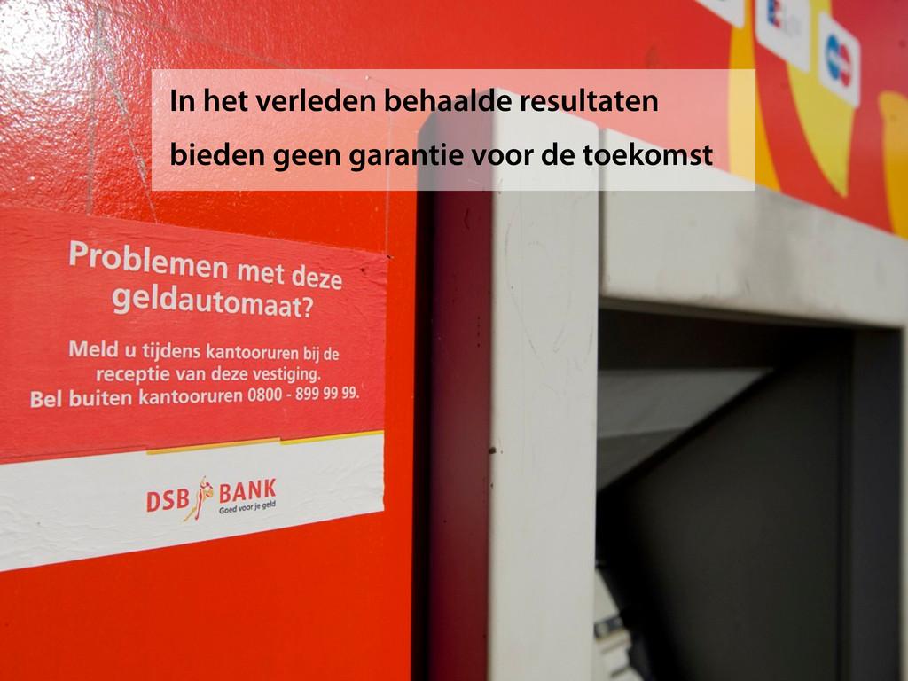 In het verleden behaalde resultaten bieden geen...