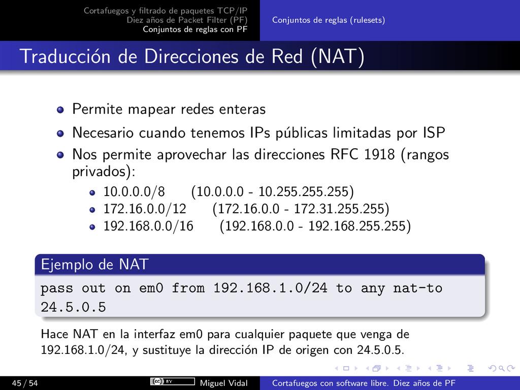 Cortafuegos y filtrado de paquetes TCP/IP Diez a...