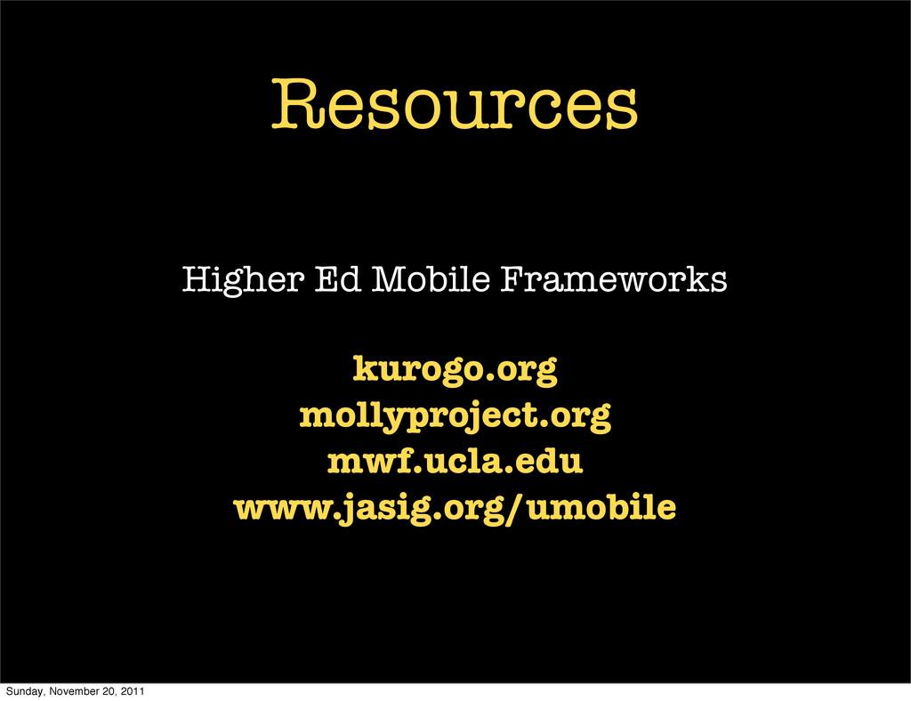 Resources Higher Ed Mobile Frameworks kurogo.or...