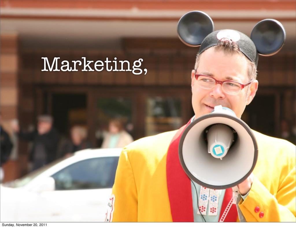 marketing bullhorn Marketing, Sunday, November ...