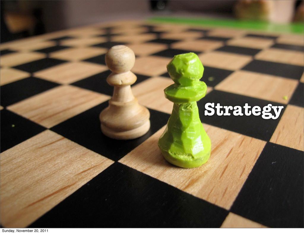 Strategy Sunday, November 20, 2011