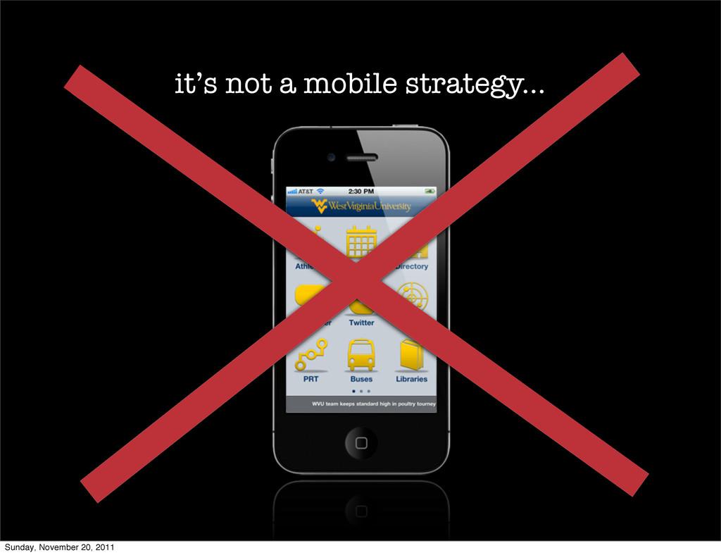 it's not a mobile strategy... Sunday, November ...