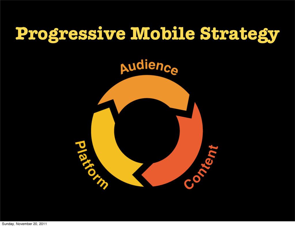 Progressive Mobile Strategy Sunday, November 20...