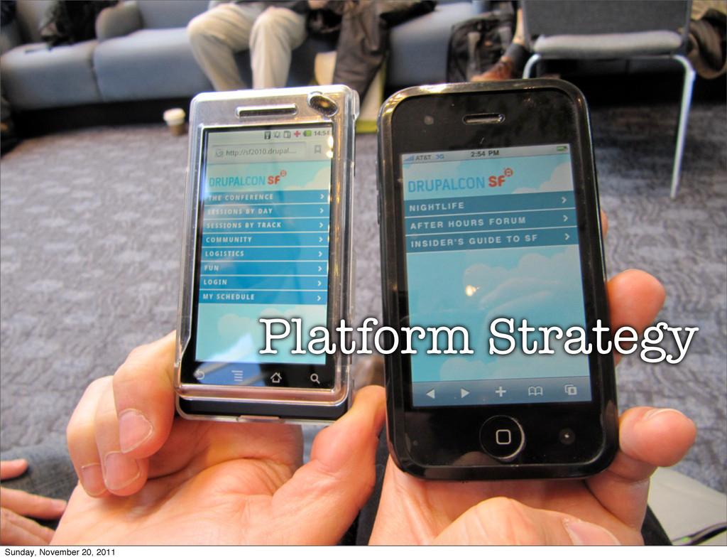 Platform Strategy Sunday, November 20, 2011