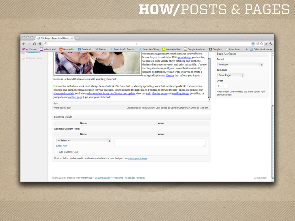HOW/POSTS & PAGES