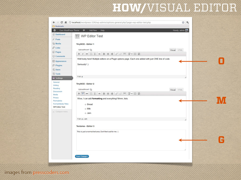 HOW/VISUAL EDITOR images from presscoders.com O...