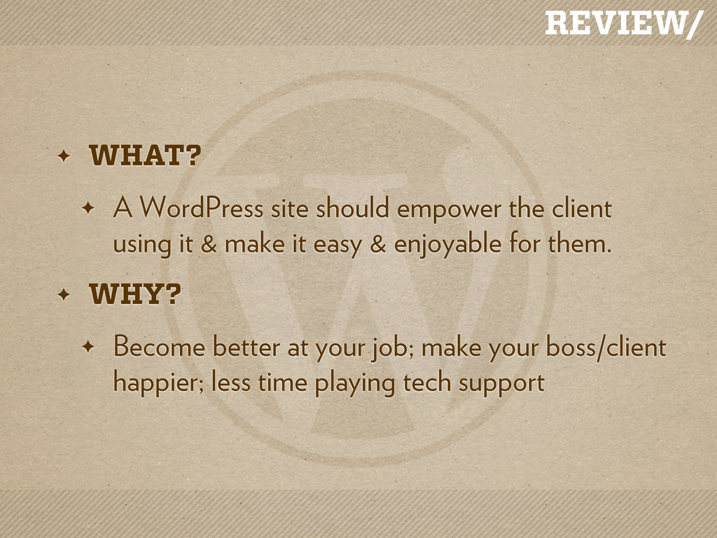 REVIEW/ ✦ WHAT? ✦ A WordPress site should empow...